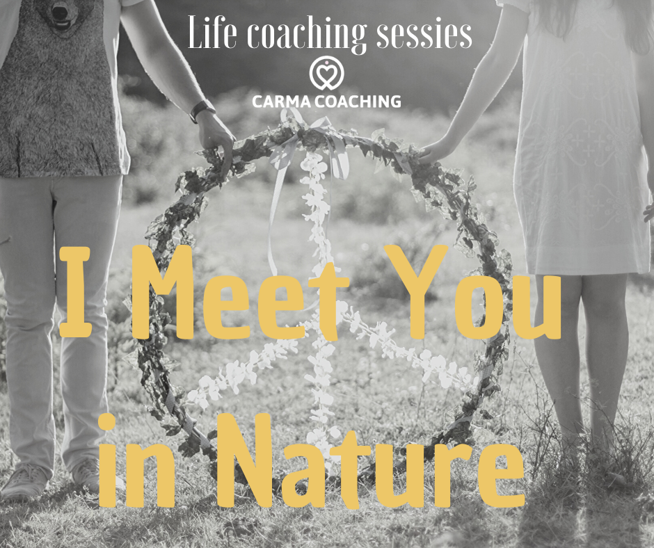 I meet you in nature life coaching sessie